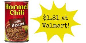 Walmart: Hormel Chili Only $1.81!