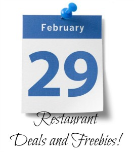2016 Leap Day Restaurant Deals and Freebies