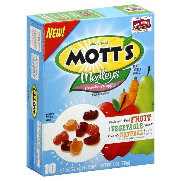 fruit of loom motts fruit snacks