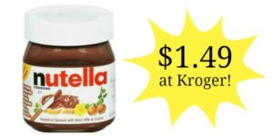 Kroger: Nutella Hazelnut Spread Only $1.49!