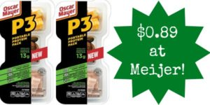 Meijer: Oscar Mayer P3 Protein Packs Only $0.89!