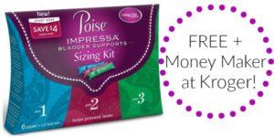 FREE Poise Impressa Bladder Supports Sizing Kit at Kroger!