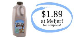 Meijer: TruMoo Chocolate Milk Only $1.89!