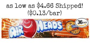 AirHeads Bars in Orange 36 Count as low as $4.66 Shipped! ($0.13/bar)
