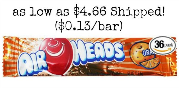 Airheads Bars, Orange, 36 count