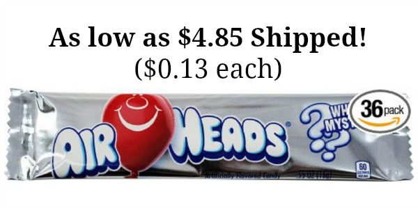 Airheads Bars, White Mystery, 36 count