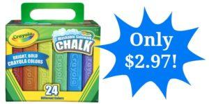 Crayola 24 Count Sidewalk Chalk Only $2.97!!