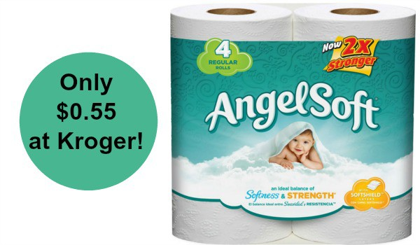 angel soft toilet paper. Kroger  Angel Soft Toilet Paper 4ct Only  0 45