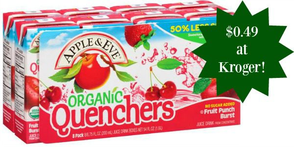 Apple & Eve Quenchers Juice Boxes