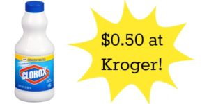 Kroger: Clorox Bleach Only $0.50!