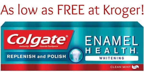 FREE Colgate Enamel Health Toothpaste