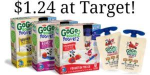 Target: GoGo Squeez Yogurtz 4-pack Only $1.24!