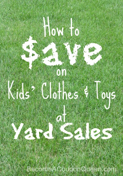 How to Save on Kids' Clothes and Toys at Yard Sales