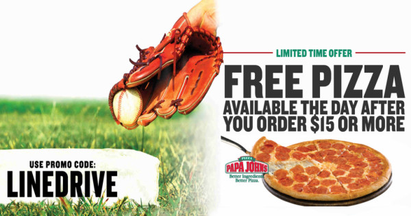 papa johns free pizza