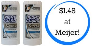 Meijer: Right Guard Xtreme Deodorant Only $1.48!