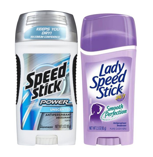 speed stick and lady speed stick deodorant