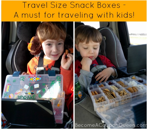 Travel Size Snack Boxes for Kids