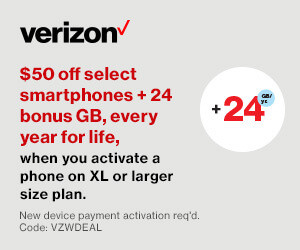 Save $50 on Select Smart Phones + Bonus Data and a Giveaway from Verizon! #WinVZW