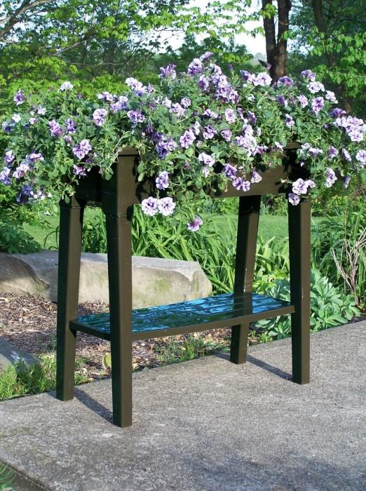 36 Inch Deluxe Garden Planter With Flowers