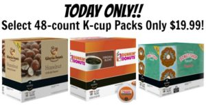 Today Only! BestBuy.com – Select 48-Count K-Cup Packs Only $19.99! ($0.42/cup)