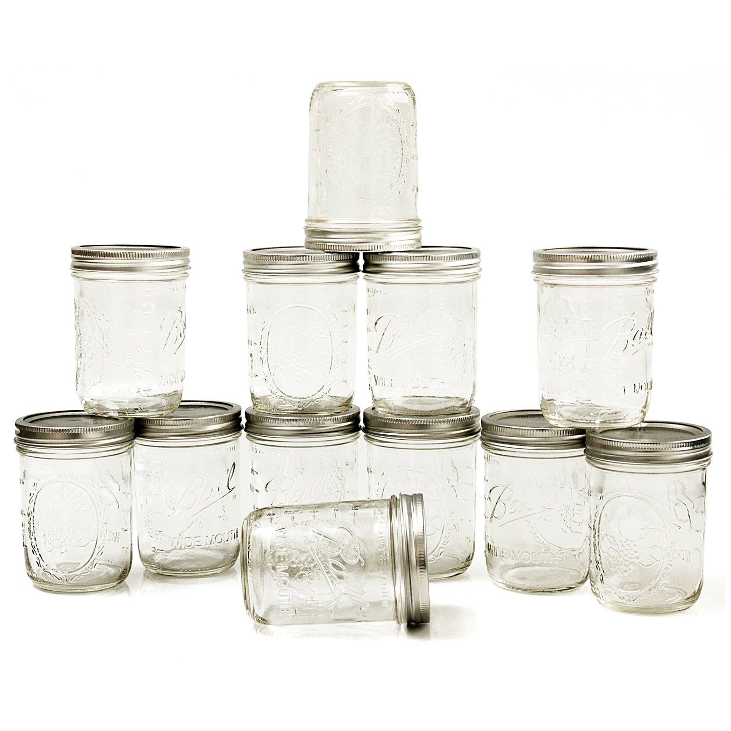12 pack of ball mason wide mouth jars 16 oz only become a coupon queen. Black Bedroom Furniture Sets. Home Design Ideas