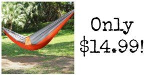 Ohuhu Portable Nylon Fabric Travel Camping Hammock Only $14.99!