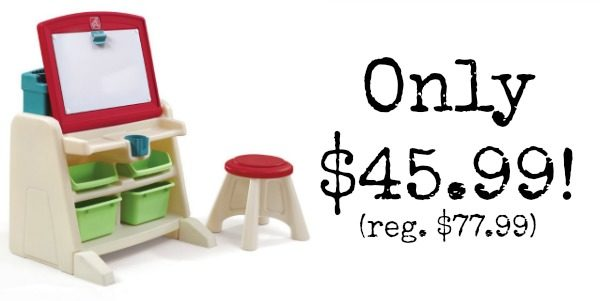Fantastic Step2 Flip And Doodle Desk With Stool Easel Only 45 99 Caraccident5 Cool Chair Designs And Ideas Caraccident5Info