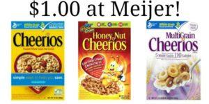 Meijer: General Mills Cereal as low as $1.00!