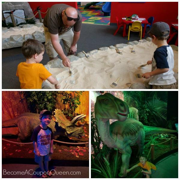 dinosaur exhibit - collage