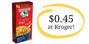 Kroger: Horizon Macaroni and Cheese Only $0.45!