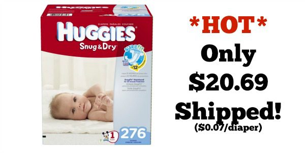 huggies snug and dry diapers box