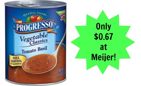 graphic about Printable Progresso Soup Coupons identified as Meijer: Progresso Soup Basically $0.67! - Turn into a Coupon Queen