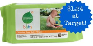 Target: Seventh Generation Baby Wipes Only $1.24!