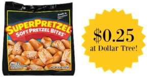 Dollar Tree: SuperPretzel Soft Pretzel Bites as low as $0.25!