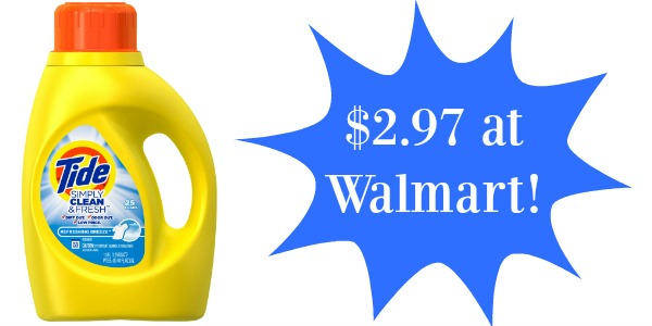 Walmart Tide Detergent Only 2 97 Become A Coupon Queen