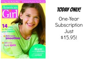 American Girl Magazine Subscription Only $15.95!
