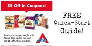 FREE Atkins Quick-Start Kit + $5 OFF Coupon!