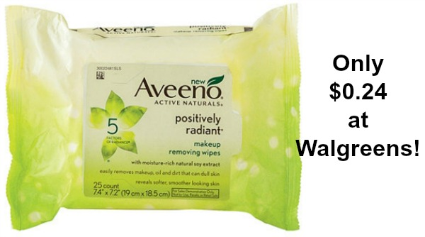 Walgreens: Aveeno Makeup Remover Wipes Only $0.24! - Become a Coupon Queen