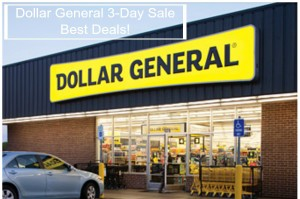 Dollar General 3-Day Sale – August 2 – 4