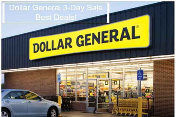 dollar general 3-day sale best deals