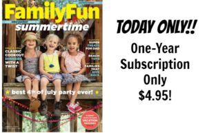 Family Fun Magazine Subscription Only $4.95!