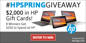 Enter to Win a $250 HP Gift Card – 8 Winners! #HPSpringGiveaway