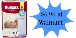 Walmart: Huggies Diapers Only $6.96!