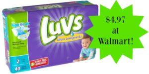 Walmart: Luvs Diapers Jumbo Packs Only $4.97!