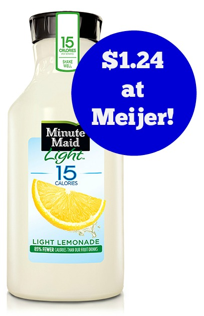 Meijer: Minute Maid Light Lemonade Only $1.24!
