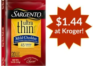 Kroger: Sargento Cheese Slices Only $1.44!