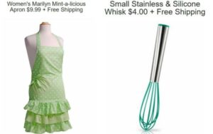 Flirty Aprons Mint-a-Licious Apron – $9.99 & Small Stainless, Silicone Whisk – $4 + FREE Shipping!