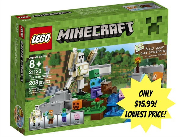 lego minecraft the iron golem only  15 99  lowest price