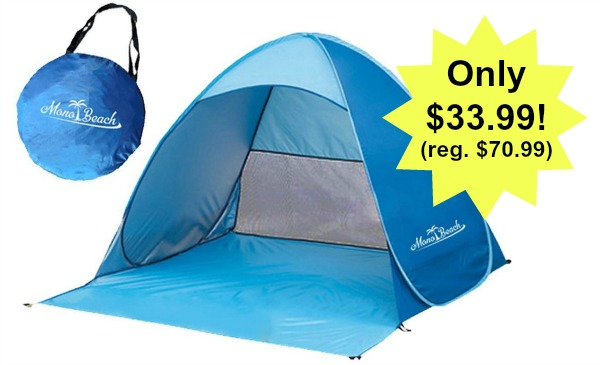 Portable Outdoors Quick Cabana Beach Tent Automatic Pop Up
