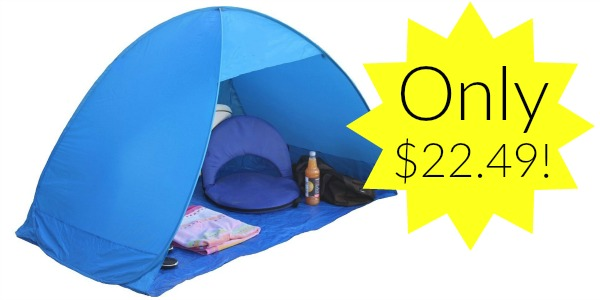 Portable Outdoors Quick Cabana Beach Tent Pop Up Sun Shelter Only 22 49 Become A Coupon Queen